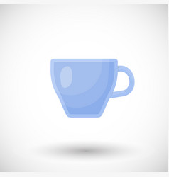 glass clear cup flat icon vector image