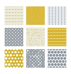 Gold and silver dots seamless pattern vector image