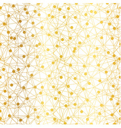 golden dots network seamless pattern vector image