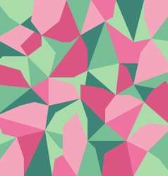 green pink abstract polygon background vector image