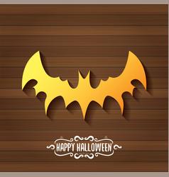 halloween golden bat animal silhouette vector image