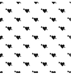 heart with arrow pattern vector image
