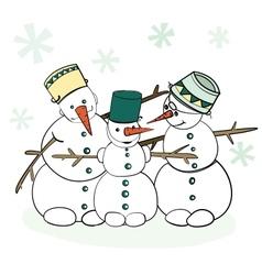 Humorous Winter Snowman vector