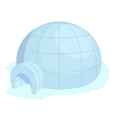 Igloo icon cartoon style vector image