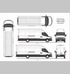 Iveco daily van l4h3 and l5h3 2014-2019 vector