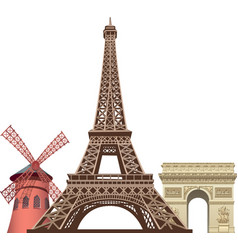 Landmarks in paris vector