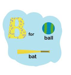 letter b for children alphabet vector image
