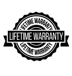 lifetime warranty stamp on white vector image