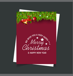 merry christmas and new year gift background vector image