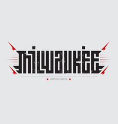 milwaukee - largest city in state of vector image