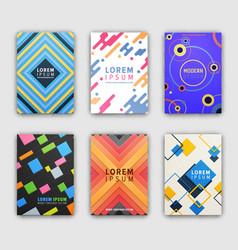 Modern design cover collection vector