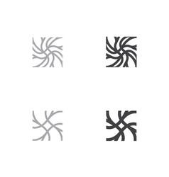 Neuron logo template neuro neuron symbol vector