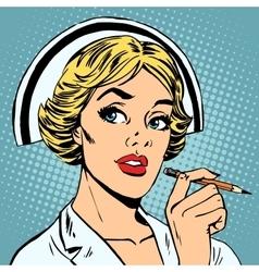 Nurse writes diagnosis vector