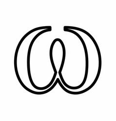 omega sign vector image