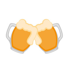 pair of beer mugs icon vector image