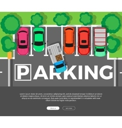 Parking Conceptual Web Banner Car Park vector