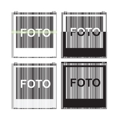 picture view of the barcode vector image