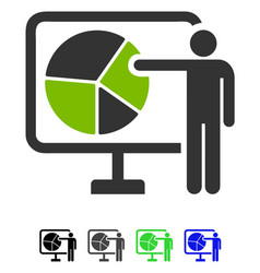 Pie chart public report flat icon vector