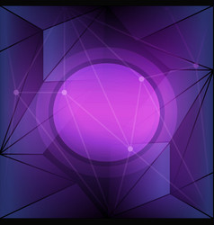 Purple background with triangle shapes vector