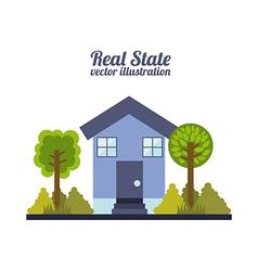 Real estate design over white background vector