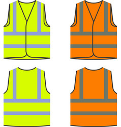 reflective safety vest yellow orange vector image