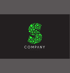 s letter bubble green logo icon design vector image