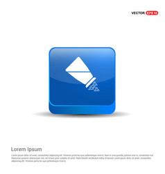 Salt or pepper shaker icon - 3d blue button vector