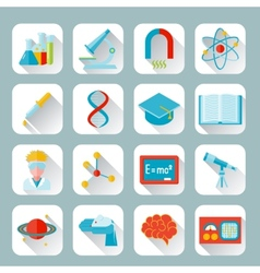 Science and research icon flat vector image