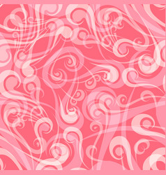 seamless vintage curly pink pattern vector image