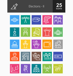 Set 2 - 25 election icons vector