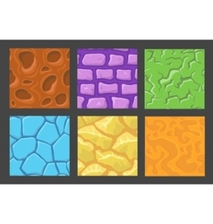 Set pattern for game background stone vector