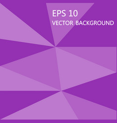 simple geometric pink purple low polygon eps10 vector image