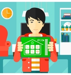Smart home application vector image