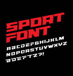 sport font bold italic letters with dynamic slant vector image