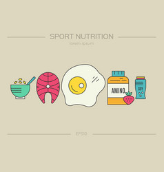 sport nutrition concept vector image
