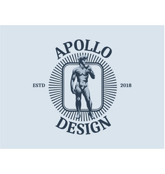 statue of david or apollo vector image