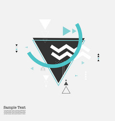 trendy triangle geometric elements background vector image