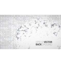 Triangle mosaic background design vector