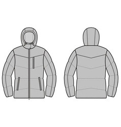 Winter jacket vector