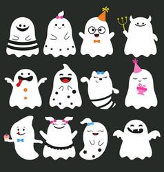 cute ghost character cute ghost character vector image
