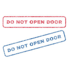 Do not open door textile stamps vector