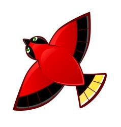 Flying red bird vector image vector image