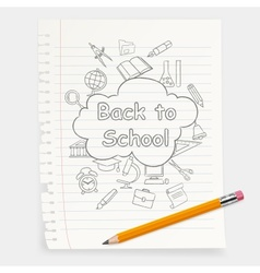 Freehand school vector image vector image