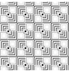 Geometric square seamless pattern vector image vector image