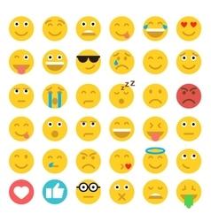 Set of Emoticons Set of Emoji Flat style vector image vector image