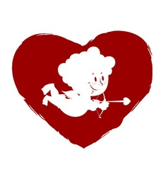 Cupid in heart Logo for Valentines day vector image vector image