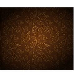oak leafs texture vector image vector image
