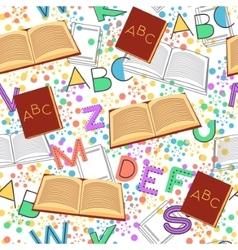 Seamless pattern alphabet background vector image