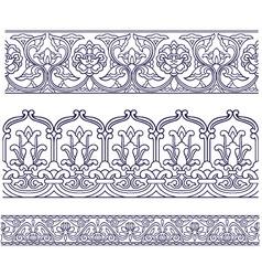 seamless spiral border vector image vector image