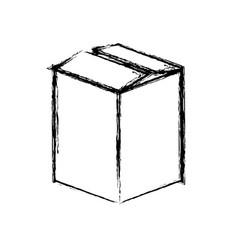 silhouette box closed icon vector image